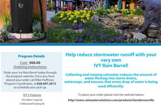 Rain Barrel Program Flyer