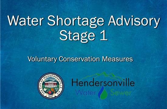 Stage 1 Water Shortage Advisory