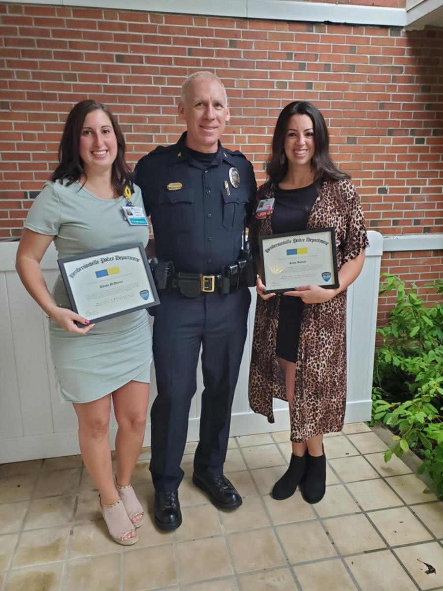 2 nurses and police chief with awards