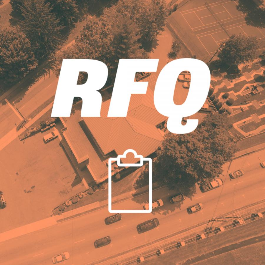 letters rfq and a clipboard icon
