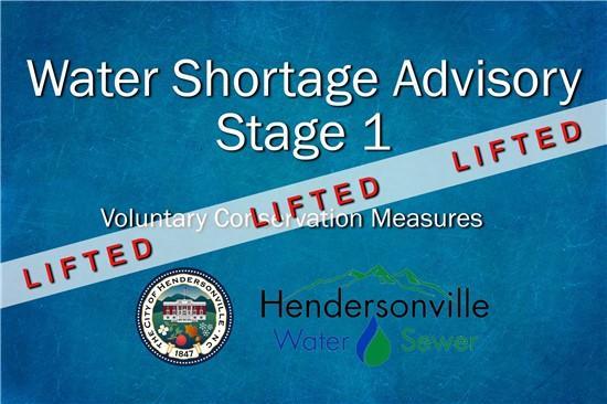 Water Shortage Advisory Lifted