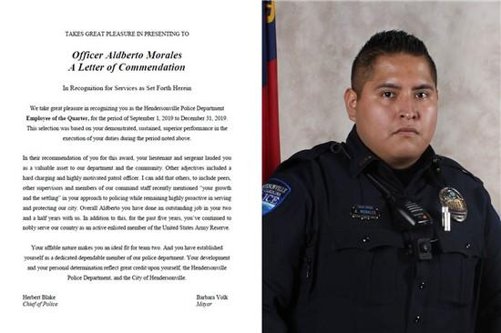 Police Department Employee of the Quarter