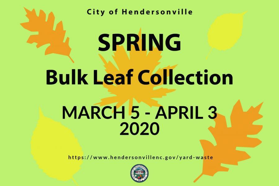 Spring leaf collection flyer