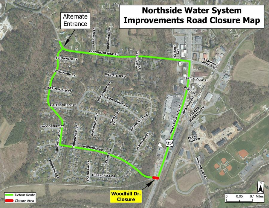 woodhill drive map
