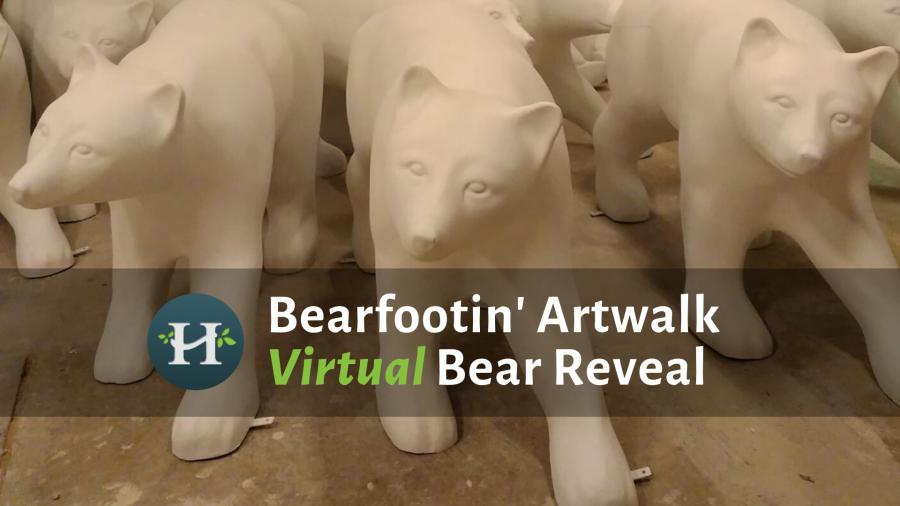 Image of Hendersonville Fiberglass Bears for Bearfootin Bear Reveal