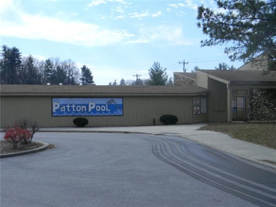 Photo of Patton Pool Sign and Entrance
