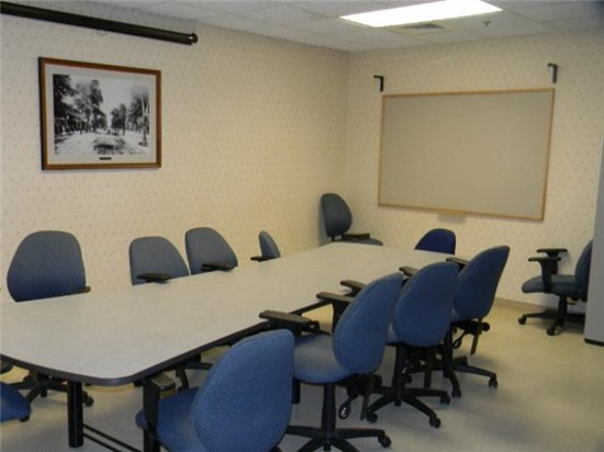 Photo of the small conference room at the Operation Center