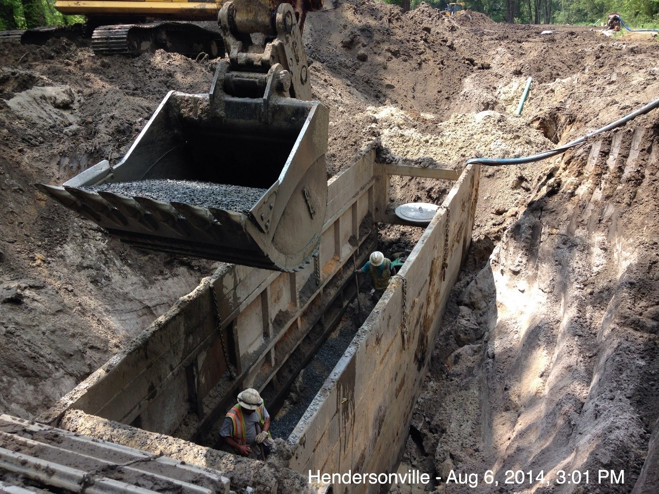 sewer installation photo