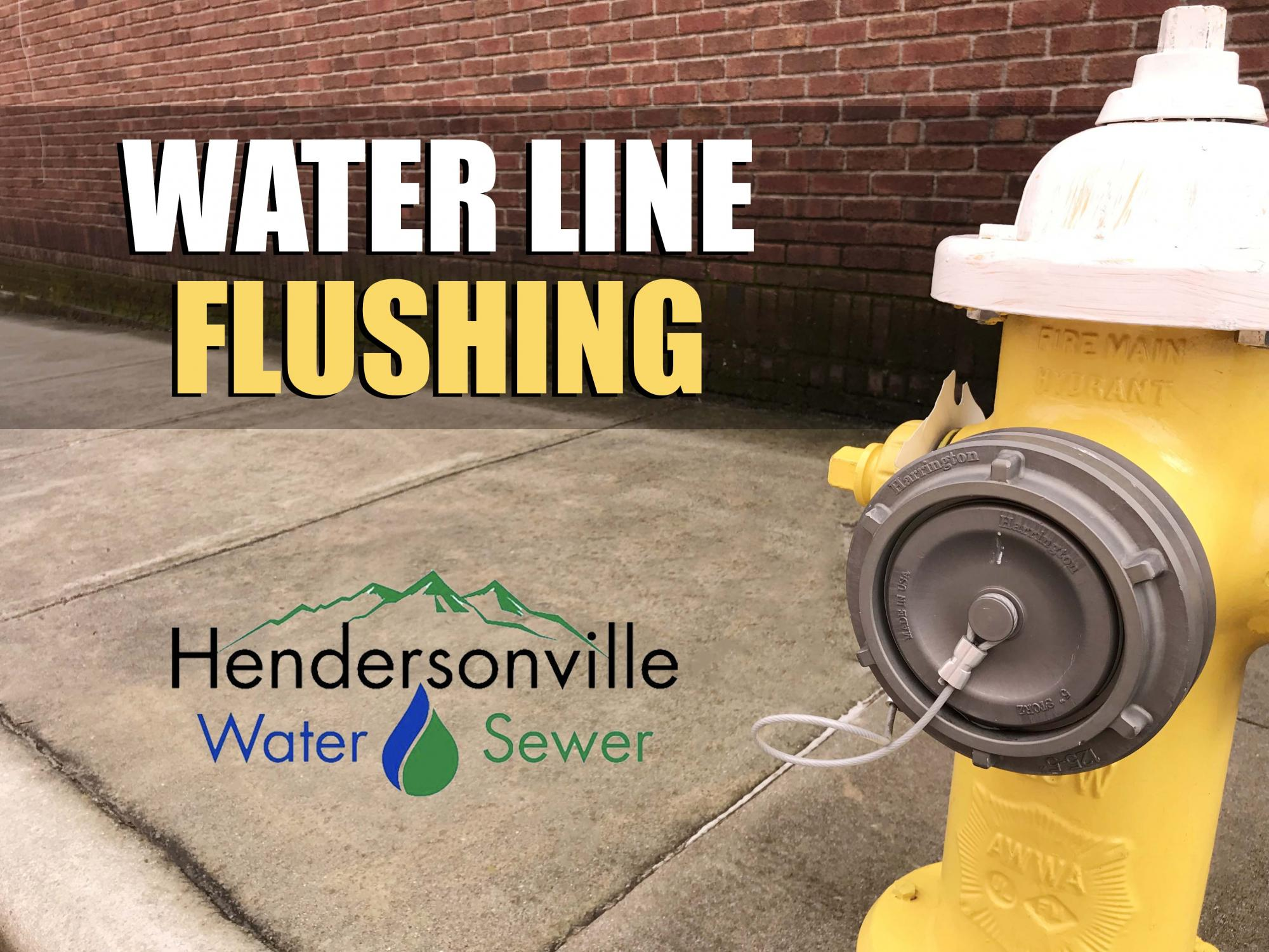 Water Line Flushing with photo of hydrant